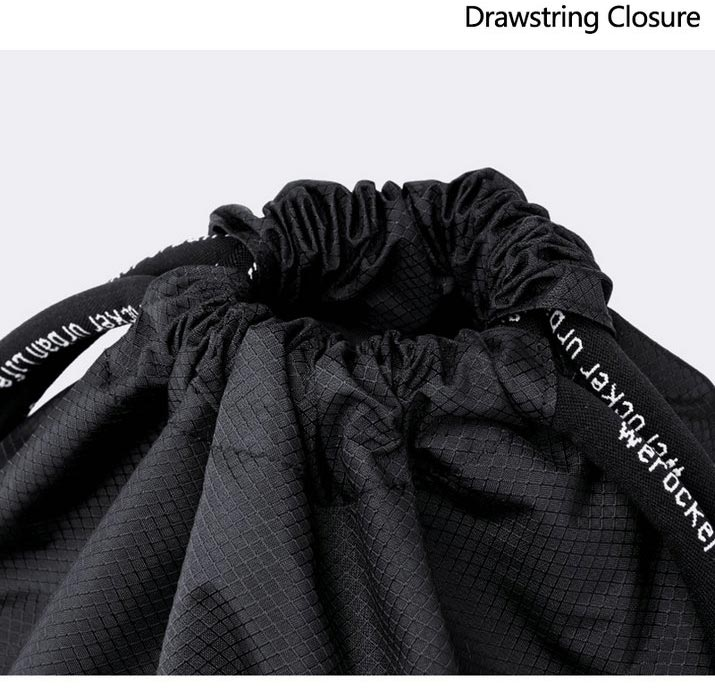 Dry wet separation drawstring backpack 2